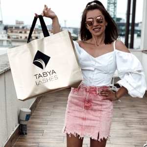TABYA LASHES GOLD BAG